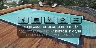 Promozione: nuova piscina con accessori al 50%